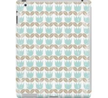 blue tulips in rows iPad Case/Skin