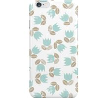 messy blue tulips iPhone Case/Skin