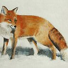 Fox in Snow by Lynne  M Kirby BA(Hons)