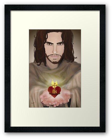 The Sacred Heart of Jesus by Rowan  Lewgalon