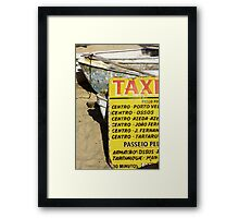 Water taxi, Buzios, Brazil Framed Print