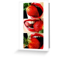Strawberry delight  Greeting Card