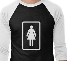 Girl icon Men's Baseball ¾ T-Shirt