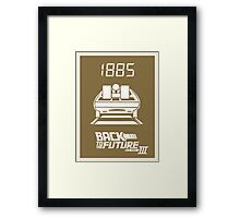 pbbyc - Back to the Future Pt 3 Framed Print