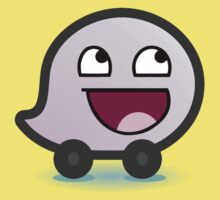 Awesome Waze Face - Girl Kids Tee