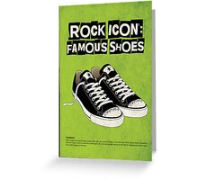 Rock Icon Famous Shoes Greeting Card