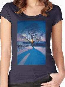 Atonement Tree - acrylic on canvas Women's Fitted Scoop T-Shirt