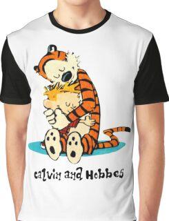Hug Calvin and Hobbes Graphic T-Shirt