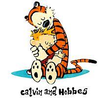 Hug Calvin and Hobbes Photographic Print