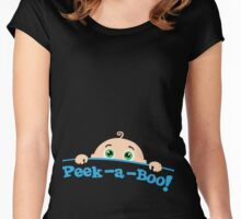 Peek a boo! Women's Fitted Scoop T-Shirt