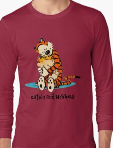 Hug Calvin and Hobbes Long Sleeve T-Shirt