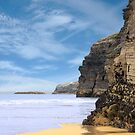 ancient cliffs on the Irish coast by morrbyte