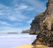 ancient cliffs on the Irish coast by morrbyte