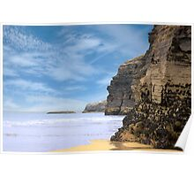 ancient cliffs on the Irish coast Poster