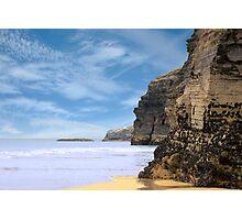 ancient cliffs on the Irish coast Photographic Print