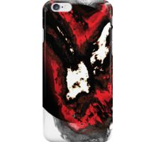 Red and white phoenix flying away from blackhole iPhone Case/Skin