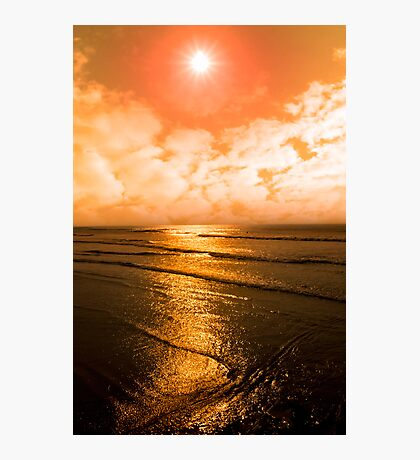 sunset over the sea in Ireland Photographic Print