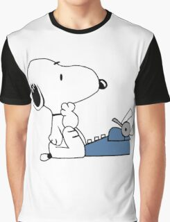 Snoopy Writes Graphic T-Shirt