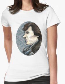 Sherlock Profile Womens Fitted T-Shirt