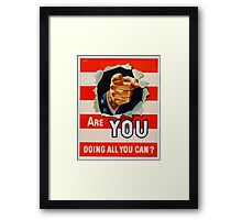 WW2 Poster Are You Reprint Framed Print