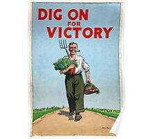 Reprint of a WWII Propaganda Poster Poster