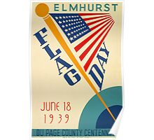 Reprint of the 1939 Flag Day Poster Poster