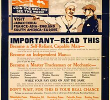 Reprint of a WW1 US Recruiting Poster  by Chris L Smith
