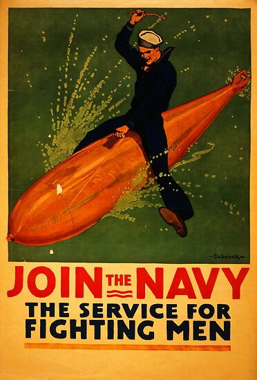 Reprint of a WW2 US Navy Recruiting Poster  by Chris L Smith