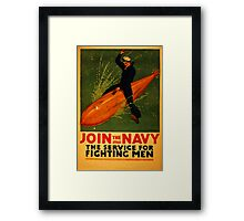 Reprint of a WW2 US Navy Recruiting Poster  Framed Print