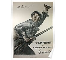 Reprint of a WW1 French Recruiting Poster  Poster