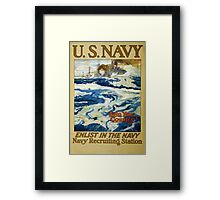 Reprint of a WW1 US Recruiting Poster  Framed Print