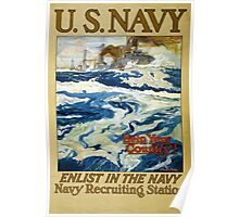Reprint of a WW1 US Recruiting Poster  Poster