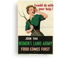 Reprint of a WW2 Recruiting Poster  Canvas Print
