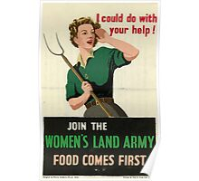 Reprint of a WW2 Recruiting Poster  Poster