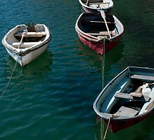 Dinghies, Mevagissey Harbour by Audid00dy