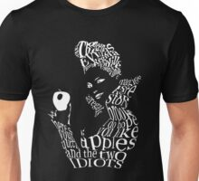 The Evil Queen - Calligram - color Black Unisex T-Shirt