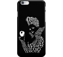 The Evil Queen - Calligram - color Black iPhone Case/Skin