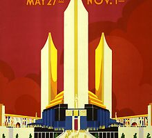 Vintage 1933 Chicago World's Fair Poster by Chris L Smith