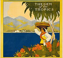 Vintage Travel Poster to Jamaica by Chris L Smith