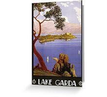 Vintage Travel Poster to Lake Garda Greeting Card