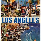 Vintage Travel Poster to LA by Chris L Smith