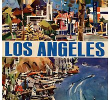 Vintage Travel Poster to LA by chris-csfotobiz