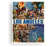 Vintage Travel Poster to LA Canvas Print