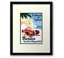Vintage Travel Poster to Monaco Framed Print