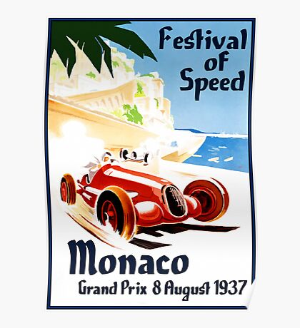 Vintage Travel Poster to Monaco Poster