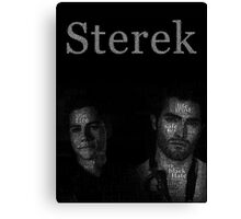 Sterek Typography  for Dark colors only Canvas Print