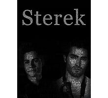 Sterek Typography  for Dark colors only Photographic Print