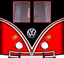 Apple iPad Case - Red Mini Van Volkswagen by beecase