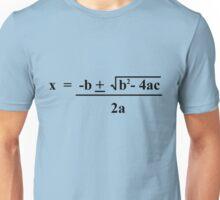 Quadratic Formula Funny Shirt Unisex T-Shirt