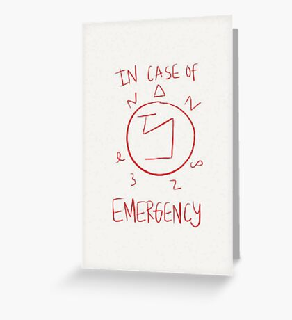 In Case of Emergency - Supernatural Angel Sigil Greeting Card